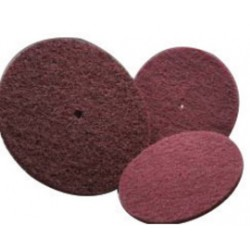 Norton - 66261000601-PK - Norton 6 X 1/2 Very Fine Grade Aluminum Oxide High Strength Fast Cut Maroon Non-Woven Abrasive Disc, ( Pack of 70 )