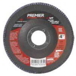 Norton - 66261068838-PK - Carbo Carbo Premier Red 4 1/2 X 5/8 - 11 40 Grit Type 27 Flat Flap Disc, ( Pack of 5 )