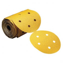 Norton - 66261130260 - Norton 5' P220 Grit A290 No-Fil Adalox Aluminum Oxide Fine Grade Open Coat Stearate Stick And Sand PSA Disc Roll With 5 Vacuum Holes