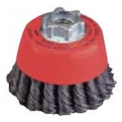 Norton - 69936653336 - Norton 2 3/4' X 5/8' - 11 Carbon Steel Single Row Twist Knot Wire Cup Brush For Use On Right Angle Grinders