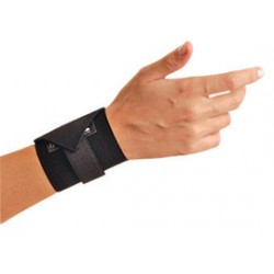 Occunomix - 311-068-CA - OccuNomix Black Woven Elastic Ambidextrous Wrist Support With Wrap Around Hook And Loop Closure Without Thumb Loop, ( Case of 12 )