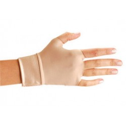 Occunomix - 450-6XL - OccuNomix X-Large Beige Original Occumitts Nylon And Spandex Fingerless Therapeutic Support Gloves, ( Pair )