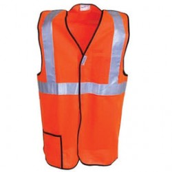 Occunomix - LUX-SSBRP-O5X - OccuNomix 5X Hi-Viz Orange 100% ANSI Tricot Polyester Break-Away Vest, ( Each )