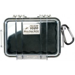 Pelican - 1020CLBLK - Pelican .02 cu ft 6.82 X 4.75 X 2.12 Clear Polycarbonate Water Resistant Micro Case With Black Line, ( Each )