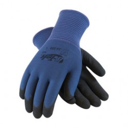 Protective Industrial Products (PIP) - 34-500/L-PR - Protective Industrial Products Large G-Tek AG Black Nitrile Palm And Fingertip Coated Work Gloves With Blue Nylon Liner And Knit Wrist, ( Pair )