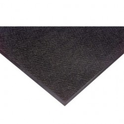 Superior Mfg - 105S0035CH - Superior Manufacturing Notrax 3' X 5' Charcoal 5/16 Thick Vinyl Chevron Entrance Mat, ( Each )