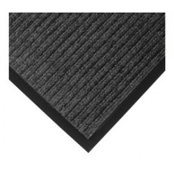 Superior Mfg - 117S0046CH - Superior Manufacturing Notrax 4' X 6' Charcoal 3/8 Thick Yarn And Vinyl Heritage Rib Entrance Mat With Beveled Edges, ( Each )