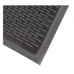 Superior Mfg - 340S0035BL - Superior Manufacturing Notrax 3' X 5' Black 1/4 Thick SBR Rubber Soil Guard Series Outdoor Entrance Mat With Beveled Edges, ( Each )
