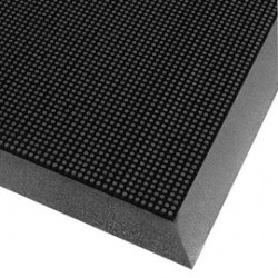Superior Mfg - 345S3239BL - Superior Manufacturing Notrax 32 X 39 Black 5/8 Thick SBR Rubber Brush Non-Absorbent Outdoor Entrance Mat, ( Each )