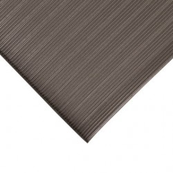 Superior Mfg - 400R0001GY - Superior Manufacturing Notrax 4' X 60' Gray 3/8 Thick PVC Foam Ribbed Anti-Fatigue Floor Mat, ( Roll )