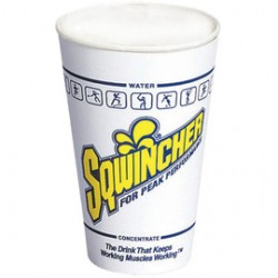 Sqwincher - 200101-CA - Sqwincher 12 Ounce White Waxed Paper Cup (100 Cups Per Tube), ( Case of 20 )
