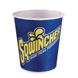Sqwincher - 200106 - Sqwincher 5 Ounce Blue And Yellow Waxed Paper Cup (2500 Cups Per Case), ( Case )