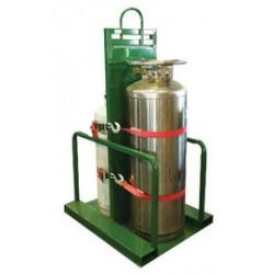Saf-T-Cart - 4L-100FW - Saf-T-Cart Steel Cylinder Pallet With Firewall And STP-45 Strap, ( Each )