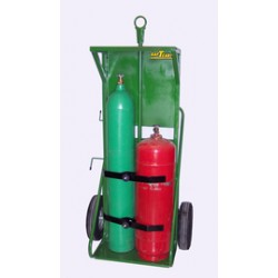 Saf-T-Cart - 552-16H - Saf-T-Cart Dual Cylinder Cart With 16' X 4' SC-11 Steel Hub Pneumatic Wheels, Continuous Handle And Cover, ( Each )