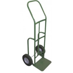 Saf-T-Cart - 703 - Saf-T-Cart 500 lb Cylinder Cart With 10' X 2 3/4' SC-8 Semi-Pneumatic Rubber Wheels, U-Shaped Handle And 14' X 10' 1/4' Steel Base Plate, ( Each )