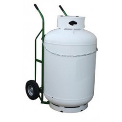 Saf-T-Cart - 7-900-4P - Saf-T-Cart 800 lb Single Cylinder Cart With 12 X 4 101122 Pneumatic Wheels, Dual Handle And Safety Chain (For Large Propane Tanks With Ease), ( Each )
