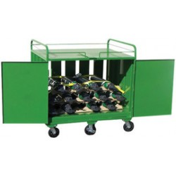 Saf-T-Cart - AC-54TD - Saf-T-Cart Enclosed 54 Cylinder Cart With SC-53 And SC-54 Casters, Lockable Doors And STP-Blue Strap, ( Each )