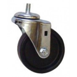"Saf-T-Cart - SC-22A - Saf-T-Cart 4"" X 1"" 255 lb Polyolefin Swivel Caster With Plain Bearing"