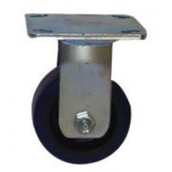 "Saf-T-Cart - SC-24 - Saf-T-Cart 4"" X 2"" 600 lb Soft Rubber Rigid Caster With Roller Bearing"