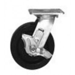 Saf-T-Cart - SC-25 - Saf-T-Cart 6' X 2' 700 lb Polyolefin Swivel Caster With Roller Bearing And Brake, ( Each )