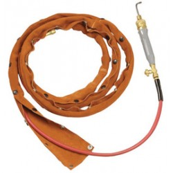 Steiner Industries - 221V3-C - Steiner Industries 1 1/4 Brown Leather Cable Cover With Velcro Closure, ( Foot )