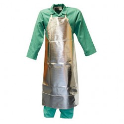 Stanco - ACK48B - Stanco Safety Products 24 X 48 Silver Aluminized Carbon KEVLAR Heat Resistant Apron, ( Each )