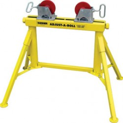 "Sumner - 780370 - Sumner Manufacturing Company ST-701 Adjust-A-Rolls 24"" Low Jack Pipe Stand With Steel Wheels"