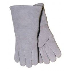 John Tillman - 1000X-DZ - Tillman Large 14 Pearl Gray Shoulder Split Cowhide Cotton Lined Economy Grade Stick Welders Gloves With Wing Thumb, Welted Finger And Lock Stitching, ( Dozen of 12 )