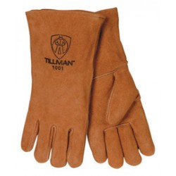 John Tillman - 1001B-CA - Tillman Large 14 Bourbon Brown Shoulder Split Cowhide Cotton Lined Economy Grade Stick Welders Gloves With Wing Thumb, Welted Finger And Lock Stitching (Bulk), ( Case of 48 )