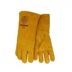 John Tillman - 1015RHO-DZ - Tillman Large 14 Bourbon Brown Shoulder Split Cowhide Cotton And Foam Lined Left Hand Welders' Gloves, ( Dozen of 12 )