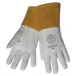 John Tillman - 1338XL-PR - Tillman X-Large White Top Grain Goatskin Unlined Premium Grade TIG Welders Gloves With Strap Reinforced Thumb, 4 Cuff And Kevlar Thread Stitching, ( Pair )