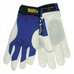 John Tillman - 1485L - Cold Protection Gloves, Thinsulate Lining, Shirred Cuff, Blue/Pearl Gray, L, PR 1