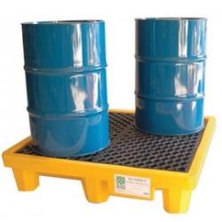 Ultratech - 1001 - UltraTech 53 X 53 X 11 3/4 Ultra-Spill Pallets P4 Yellow Polyethylene Spill Containment Pallet, ( Each )