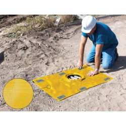 Ultratech - 9130 - UltraTech 59 X 48 Ultra-Grate Guard Plus Yellow Polypropylene Guard, ( Each )