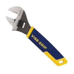 IRWIN Industrial Tool - 2078606-CT - IRWIN 1 Chrome Vanadium Steel Vise-Grip Adjustable Wrench With Blue/Yellow/Gray ProTouch Grip Handle, ( Carton of 5 )