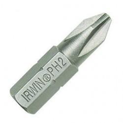 "IRWIN Industrial Tool - 92019 - #3 Phillips Screwdriver Bit, 1/4"" Shank Size"