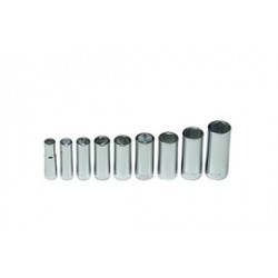 Wright Tool - 304 - Wright Tool 3/8' X 3/8' - 7/8' 9 Piece 6 Point Deep Socket Set (Includes Rail And (9) Clips), ( Each )