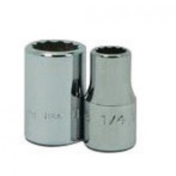 Wright Tool - 3132 - Wright Tool 3/8' X 1' Chrome Plated Alloy Steel 12 Point Standard Socket, ( Each )
