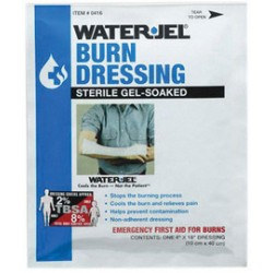 Water-Jel - 0416-28-EA - Water-Jel Technologies 4 X 16 Burn Dressing, ( Each )