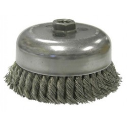 Weiler - 12576 - Weiler 6 X 5/8 - 11 X 1 3/8 Trim Carbon Steel Double Row .0350 Knot Wire Cup Brush For Use On Right Angle Grinders, ( Each )