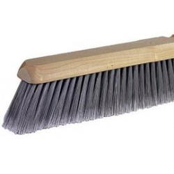 "Weiler - 42042 - Weiler Fine Sweeping Brush Head With 24"" Wood Block And 3"" Trim Flagged Silver Synthetic Fill"