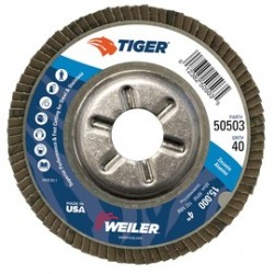Weiler - 50503-PK - Weiler TIGer 4 X 5/8 40 Grit Type 29 Flap Disc, ( Pack of 10 )
