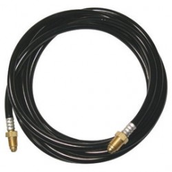 WeldCraft - CS410-12G - Weldcraft 12 1/2' Rubber Black Braided Gas Hose For 410 Amp Water Cooled Crafter CS410 Torch, ( Each )