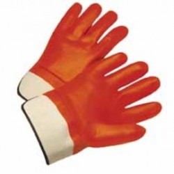 West Chester - 1017OR-DZ - West Chester Large PVC Work Gloves With Jersey Liner And Starched Safety Cuff, ( Dozen of 12 )