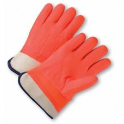 West Chester - 1017ORF-CA - West Chester Large PVC Work Gloves With Jersey Liner And Slip On Cuff, ( Case of 72 )