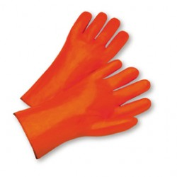 West Chester - 1027OR-DZ - West Chester Large PVC Work Gloves With Foam Over Jersey Liner And Slip On Cuff, ( Dozen of 12 )