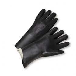 West Chester - 1027RF-CA - West Chester Large PVC Work Gloves With Foam Over Jersey Liner And Slip On Cuff, ( Case of 72 )