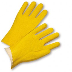 West Chester - 3962/L-DZ - West Chester Large PVC Work Gloves With Jersey Liner And Slip On Cuff, ( Dozen of 12 )