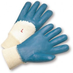 West Chester - 4060/M-DZ - West Chester Medium Nitrile Work Gloves With Interlock Liner And Knit Wrist, ( Dozen of 12 )