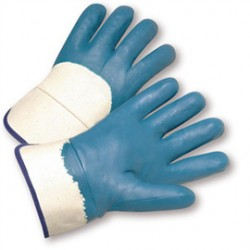 West Chester - 4550/L-PR - West Chester Large Nitrile Work Gloves With Jersey Liner And Safety Cuff, ( Pair )